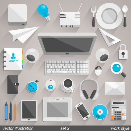 paper graphic: Vector work style. set 2 Illustration