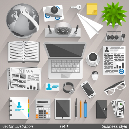 Vector business style. set 1 Stock Vector - 23835006
