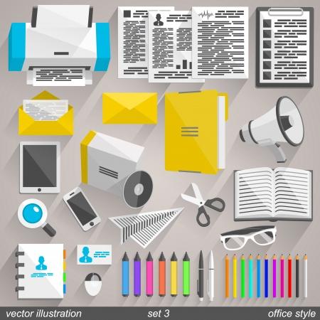 Vector office style. set 3 Illustration