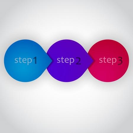 Next Step Arrow Circles. Vector Design Illustration