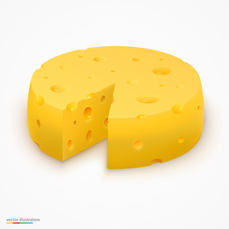 cheez: Wheel of cheese food background. Vector illustration