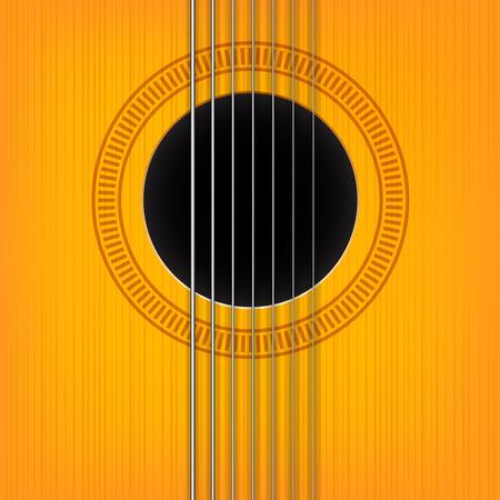 guitar neck: vector guitar sound hole background. Vertical variant. Illustration
