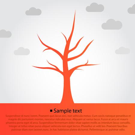 orange tree: Tree symbol design, orange tree silhouette background