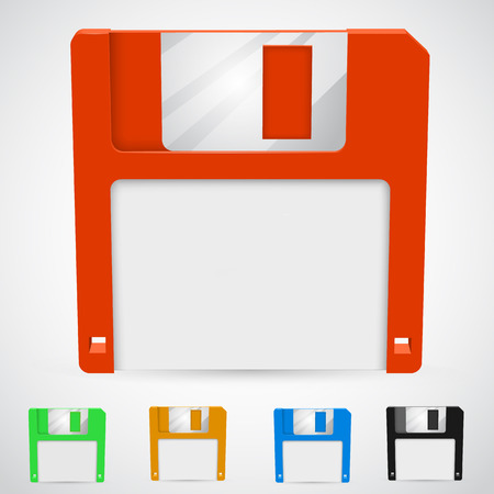 Vector illustration of a floppy disk in different colors Vector