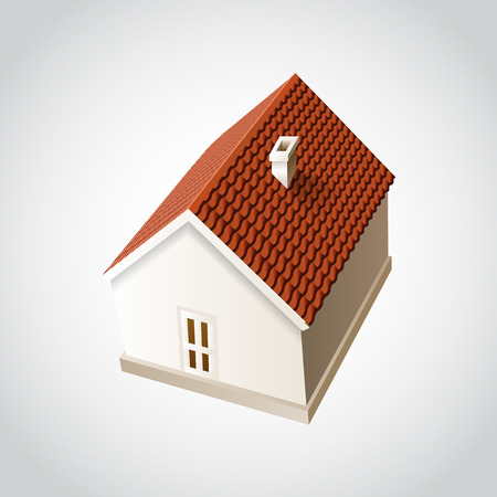 proprietary: House isolated on white. Icon. Vector illustration