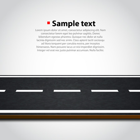 road surface: Road isolated on white. Clean vector background