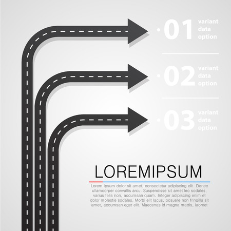 road design: Street road and sign infographics design template