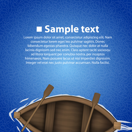 rowing boat: Rowing boat background art banner. Vector illustration Illustration