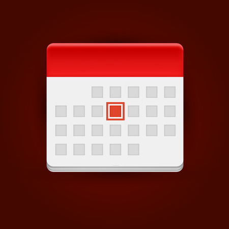 calendar icon: Calendar icon on dark background. Vector illustration.