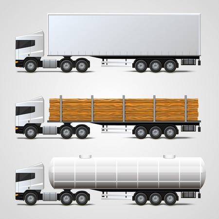 cargo truck: Cargo traffic set art sign. Vector illustration