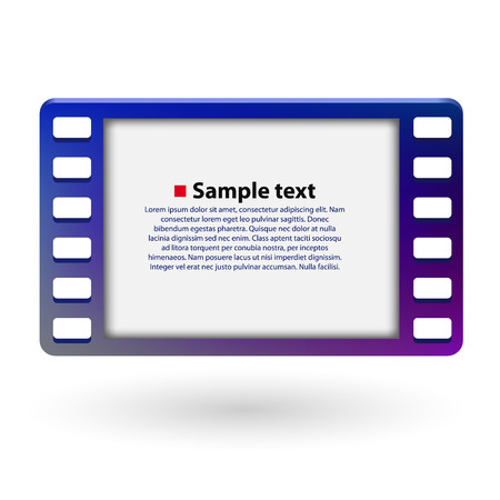 35mm: Film frame 35mm. Cinema concept. Vector illustration