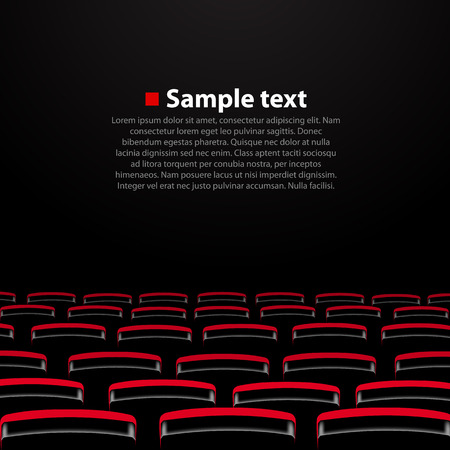 Vector cinema auditorium with seats. Vector illustration