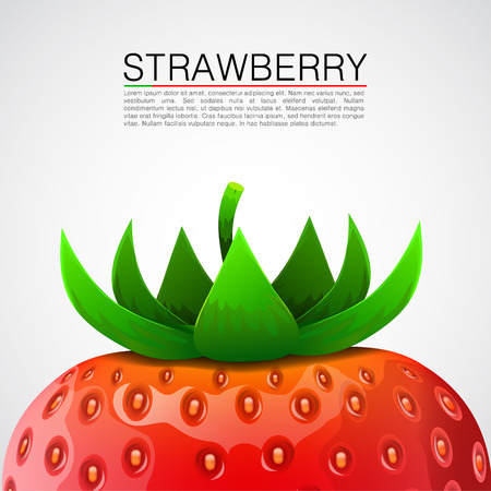 Fresh and delicious realistic strawberry background. Vector illustration Vector