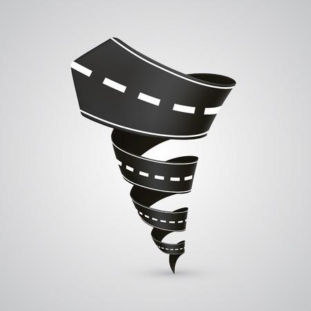 pat: Spiral road art sign 3d. Vector illustration Illustration