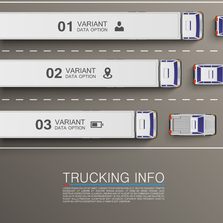 Freight transportation info art illustration. Vector background Vector