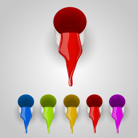 """""""paint can"""": Color set of paint can. Vector illustration Illustration"""