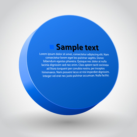 3d circle: Vector illustration of blue three dimensions sircle. Illustration