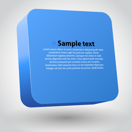 plastic box: Three-dimensional blue box on white. Clean vector illustration Illustration