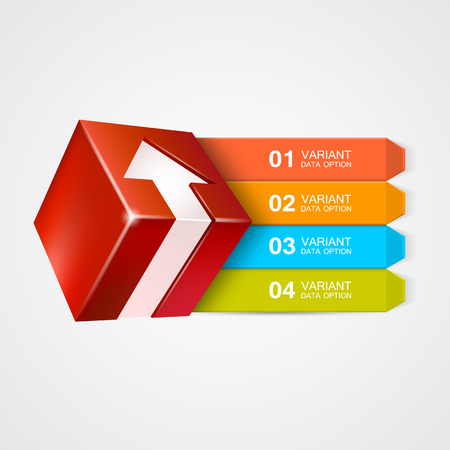 technology market: Vector box with arrow. Infographics concept. Vector illustration