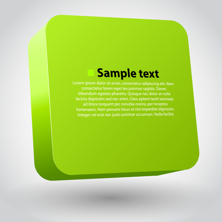 cube box: Three-dimensional green box on white. Clean vector illustration
