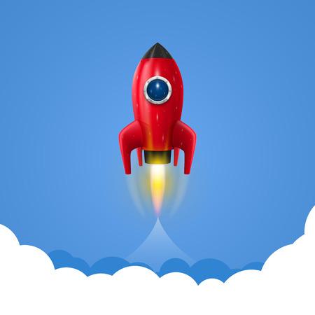 スペース ロケット打ち上げ芸術創造的です。ベクトル イラスト 写真素材 - 35798871