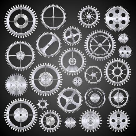10eps: Pinions mechanisms metall. Vector illustration art 10eps Illustration