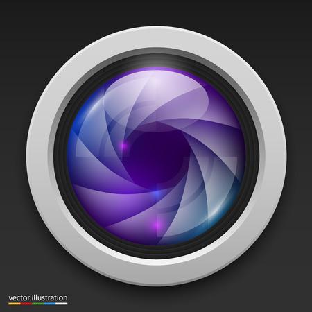 photography icon: Photography camera icon background. Vector illustration art