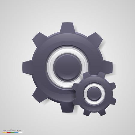 10eps: Cogwheel icon background. Vector illustration art 10eps