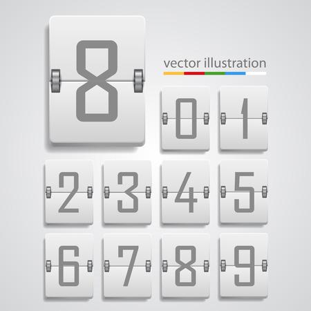 reversible: Numeric scoreboard icon background. Vector illustration art