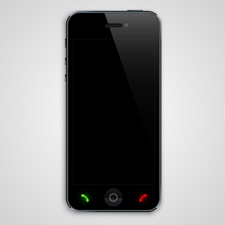 Phone with a black screen. Vector illustration