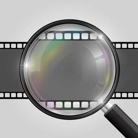 10eps: Frame magnifier video frame. Vector illustration 10eps