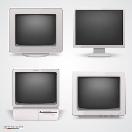 10eps: Set of retro computers. Vector illustration 10eps Illustration