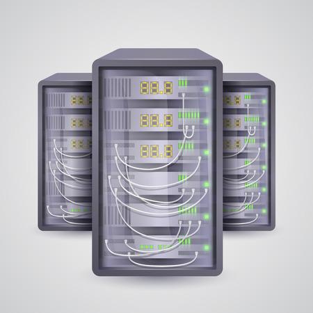 10eps: Servers icon data. Vector illustration art 10eps