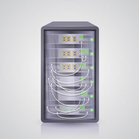 Server Symbol Daten. Vektor-Illustration Kunst 10eps