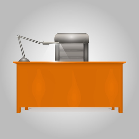 working in office: Office Desk Director art object. Vector illustration