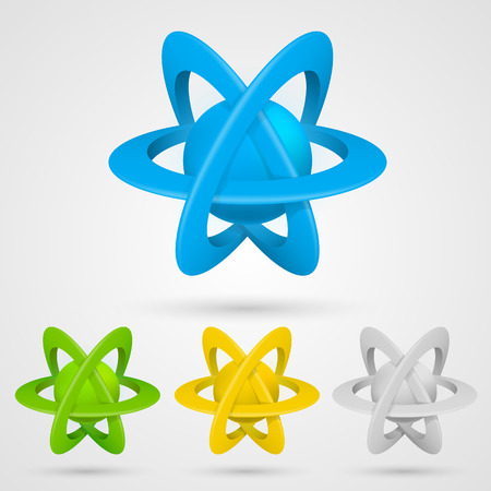 Atom set symbol on a white background. Vector illustration Vector