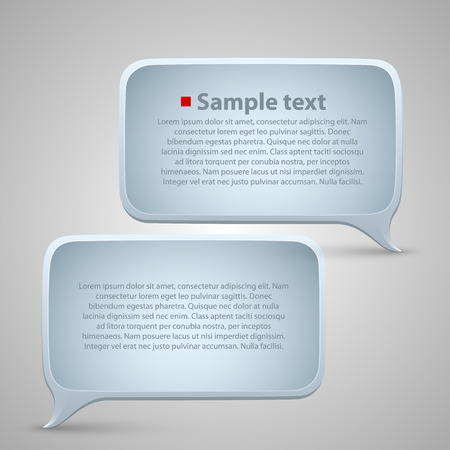chat window: Chat window art frame text. Vector Illustration
