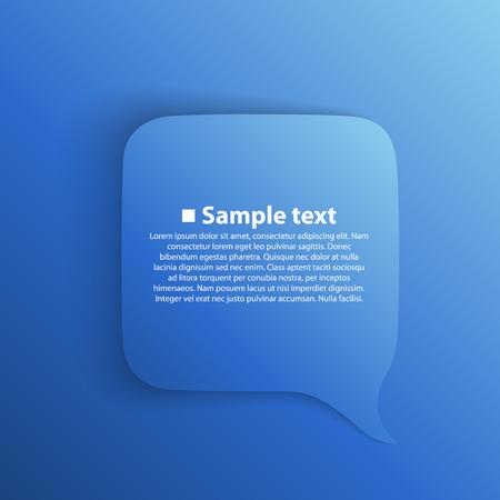 conversation icon: Chat background blue art creatuve. Vector Illustration