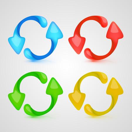 Vector icon refresh color set. Vector Illustration Vector
