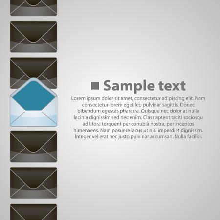 chatbox: Vertical background writing art banner. Vector illustration