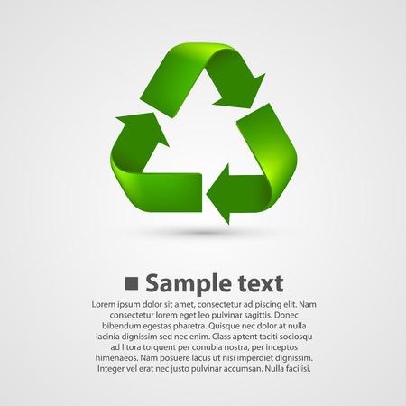 recycle symbol vector: Recycle Symbol. Vector illustration art background white Illustration