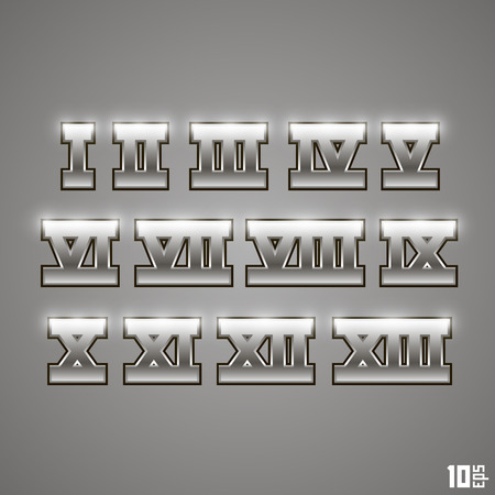 numeros romanos: Números romanos conjunto de vectores de arte. Ilustración vectorial Vectores