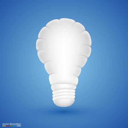 oncept: light cloud art icon sing. Vector illustration