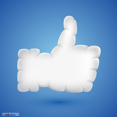 hands in the air: Like cloud art icon sing. Vector illustration
