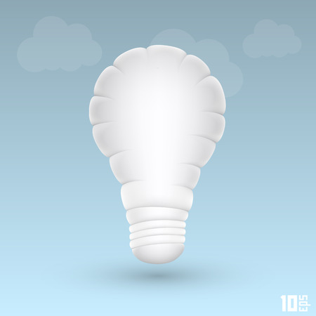 powe: light cloud art icon sing. Vector illustration