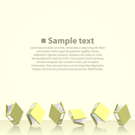 10eps: Folders with paper on the floor. Vector illustration