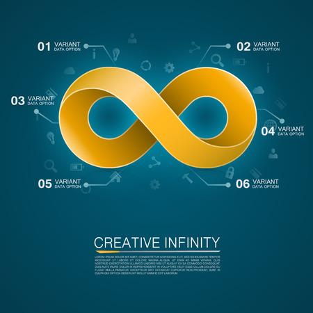 mobius symbol: Symbol of infinity art info. Vector Illustration