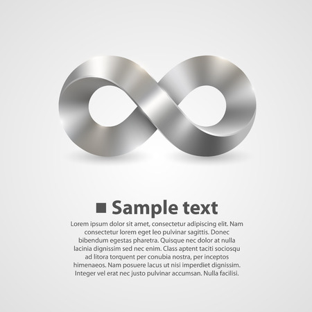 Vector symbol of infinity. illustration art background