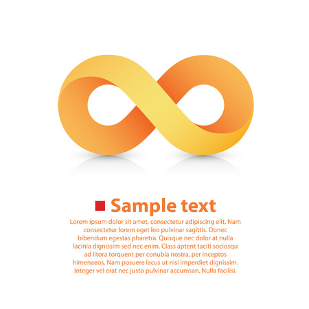 infinite symbol: Vector symbol of infinity. illustration art background