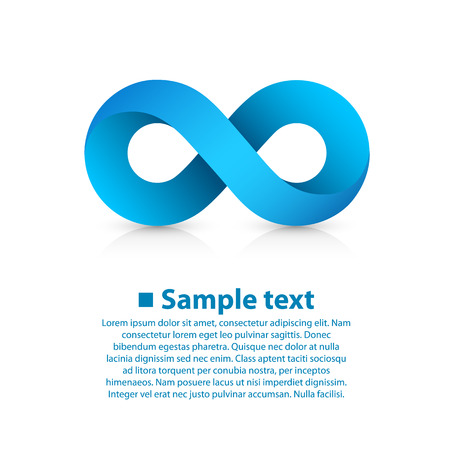 Symbol of infinity art info. Vector Illustration Stock fotó - 35865224